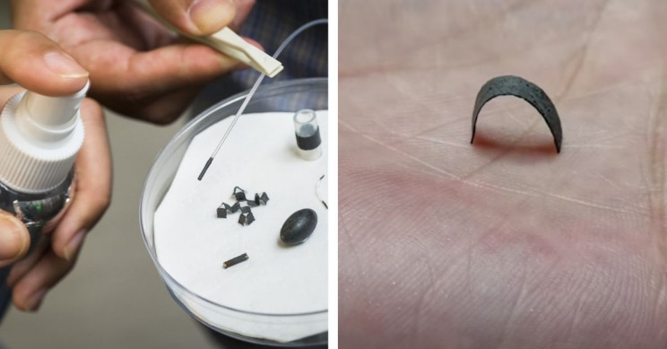 Tiny Objects Coated in Special Magnetic Material Walk, Crawl, and Roll