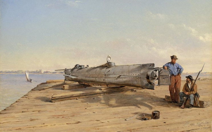 The H.L. Hunley submarine