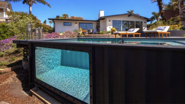 This Company Turns Shipping Containers Into Sustainable Swimming Pools