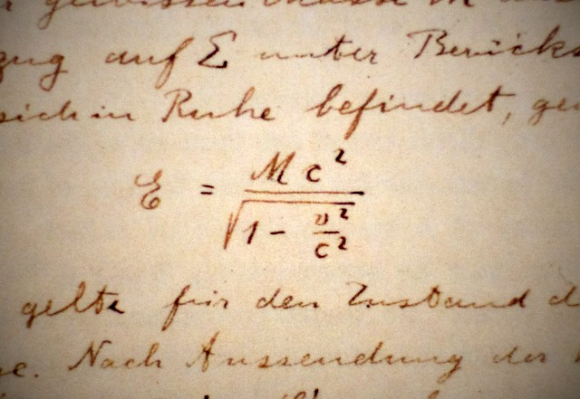 important equations einstein