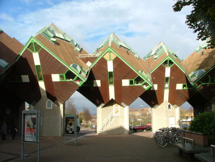 unusual buildings cube houses