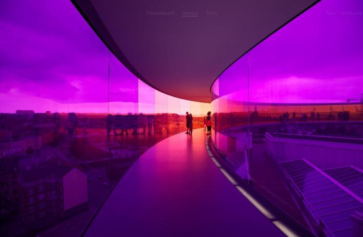 spaceship themed interior panorama