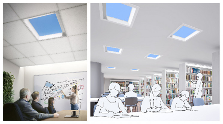 Mitsubishi Develops LED Skylights to Improve Windowless Offices