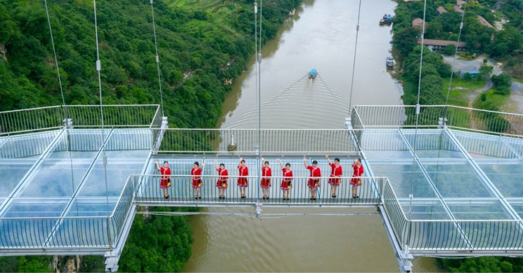 The World's Longest Glass-Bottom Bridge Is Built in China