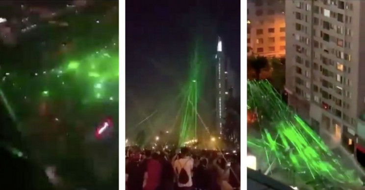 Chilean Protesters Used Lasers to Bring down Police Drone, and It Worked