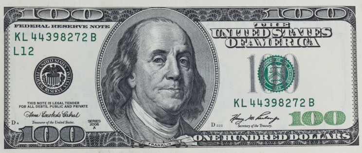U.S. hundred dollar bill