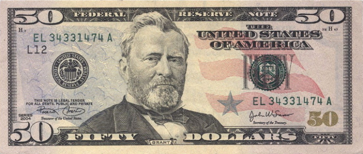 U.S. fifty dollar bill