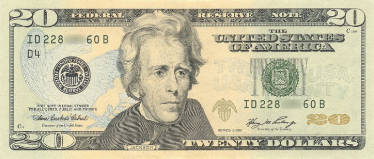 U.S. twenty dollar bill