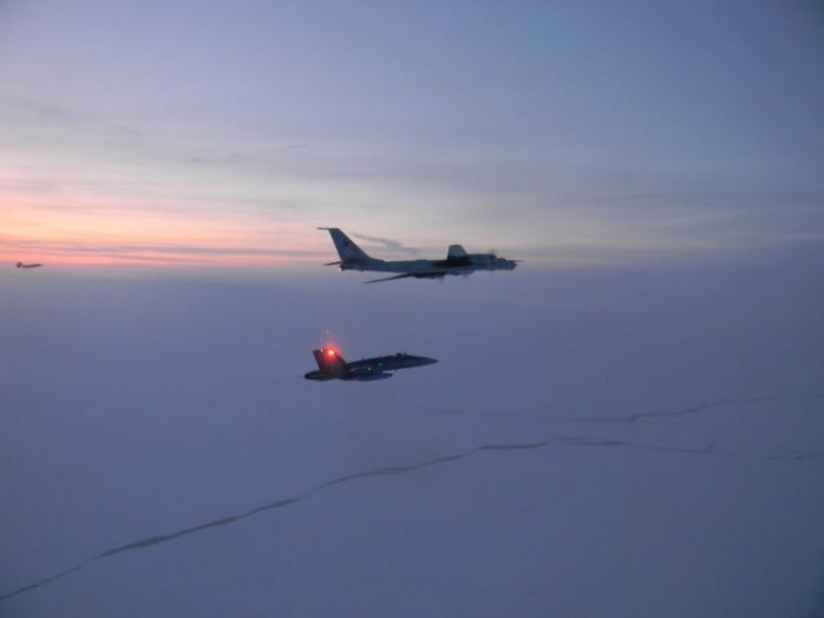 U.S. and Canadian Fighter Jets Intercept Russian Reconnaissance Aircraft by Alaska