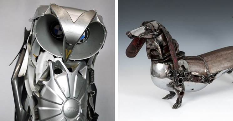 7 Incredible Art Installation Designs Made Up of Old Machine Parts