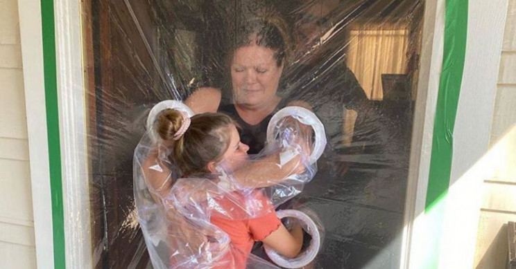 10-Year-Old Invents Plastic Curtain to Enable Grandparent Hugging Amid COVID-19