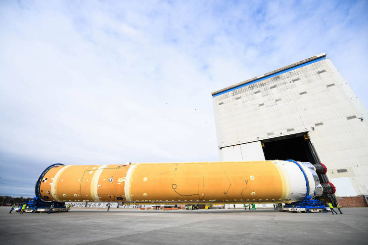 The First NASA Artemis Rocket Core Stage Is Finally Here and Ready For Green Run Tests