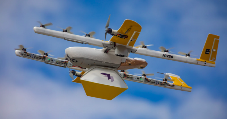 Google's Drone Delivery Service Drops Library Books to Kids