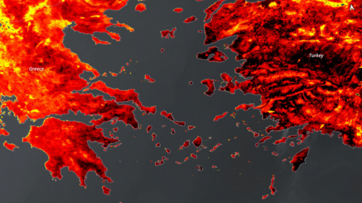 Satellite Image Shows What 127-Degree Temperature Looks Like From The Sky