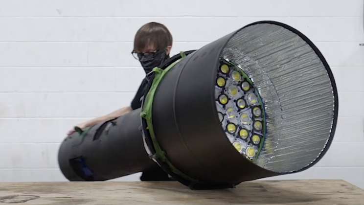 YouTuber Makes the World's Brightest Flashlight