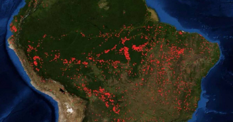 NASA Pictures Capture Amazon Fires All the Way from Space