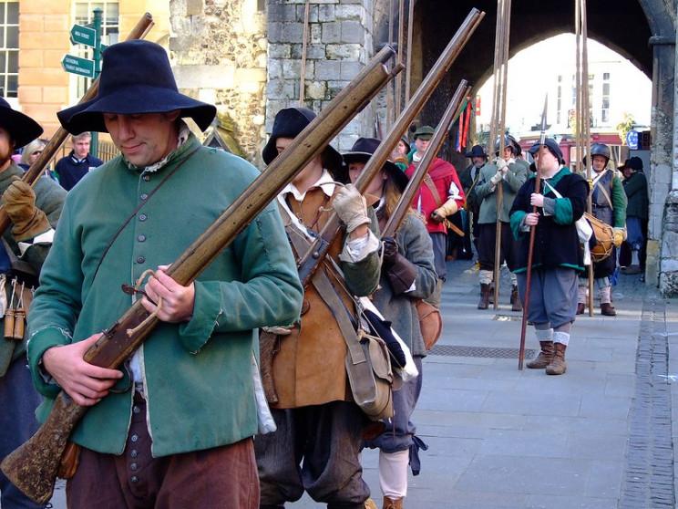 bows versus guns