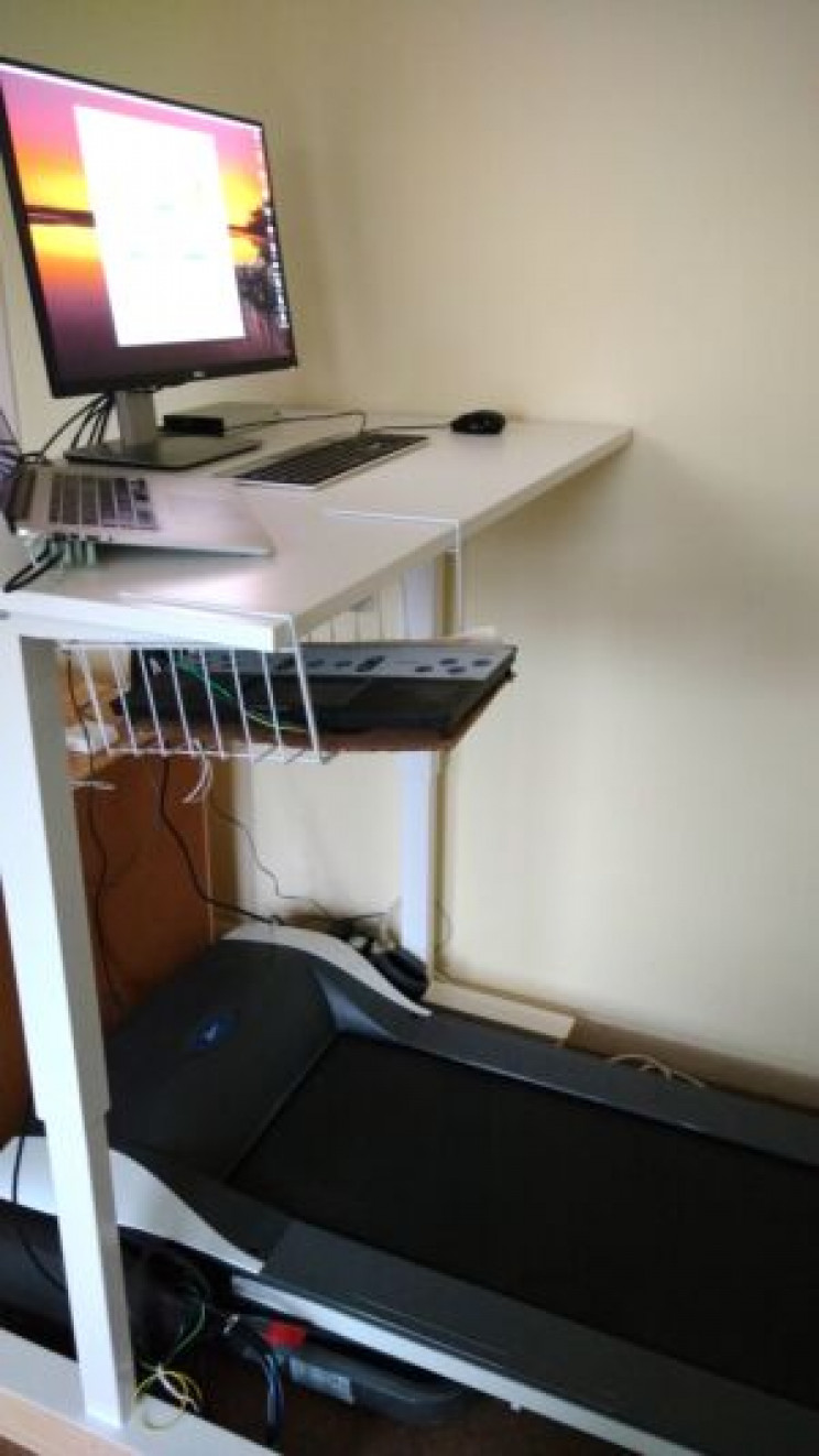 engineers work at home desks treadmill