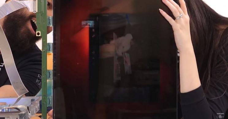 Semi-See-Through Screen