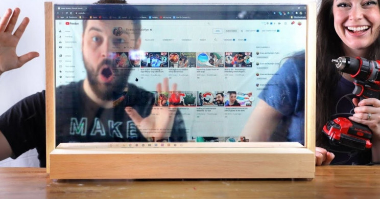 YouTube Duo Builds See-Through LCD Computer Screen Like It's the Year 3020