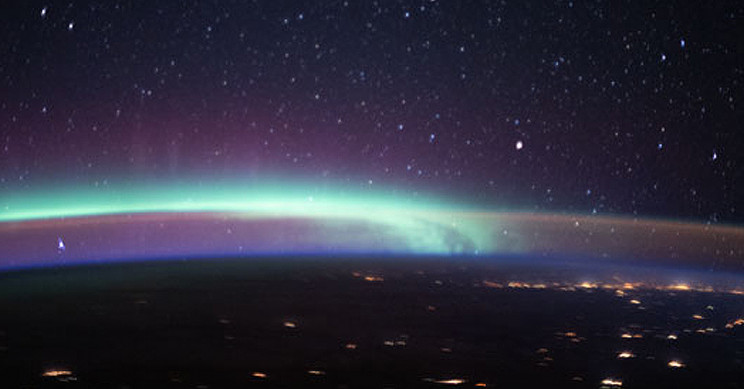 Aurora Meets Airglow in Ethereal Photo Captured from ISS