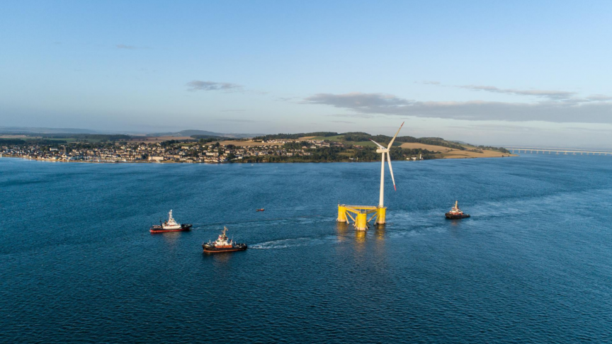 World's Largest Floating Offshore Wind Farm Ready in Scotland
