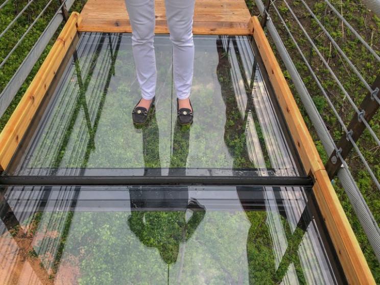 Glass Panel Cracks on Gatlinburg SkyBridge After Guest Does Baseball Slide
