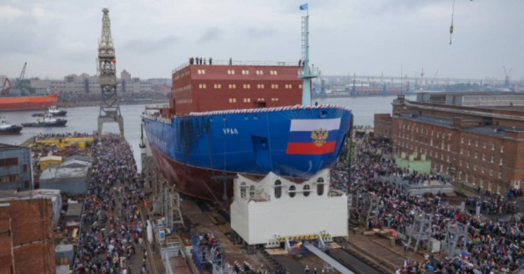 Russia Unveils New Nuclear Powered Ice Breaker to Force Open Warming Arctic