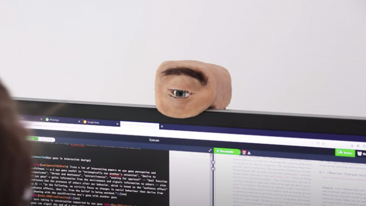 Creepy Eye-Shaped Webcam Will Make Video Calls Uncomfortable