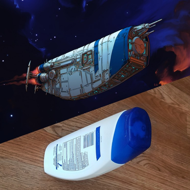 Talented Artist Draws Beautiful Space Crafts Inspired by Daily Objects