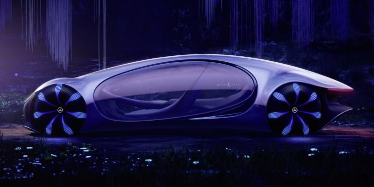 "Mercedes-Benz Unveils Concept Car Inspired by Movie ""Avatar"""