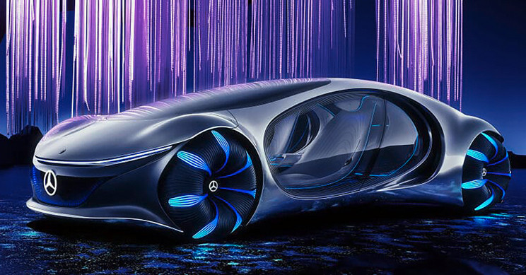 "Mercedes-Benz Unveils New Concept Car Inspired by Movie ""Avatar"""
