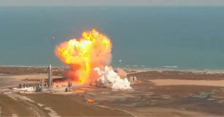 SpaceX SN9 Explosion 1