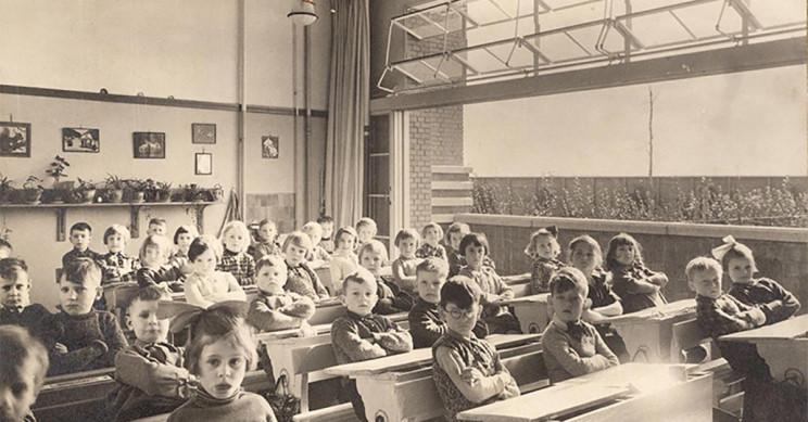 Children In Amsterdam Sitting In An Open Air Classroom