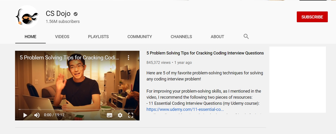 youtube coding cs dojo