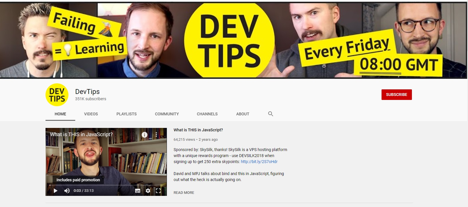 youtube coding channels devtips