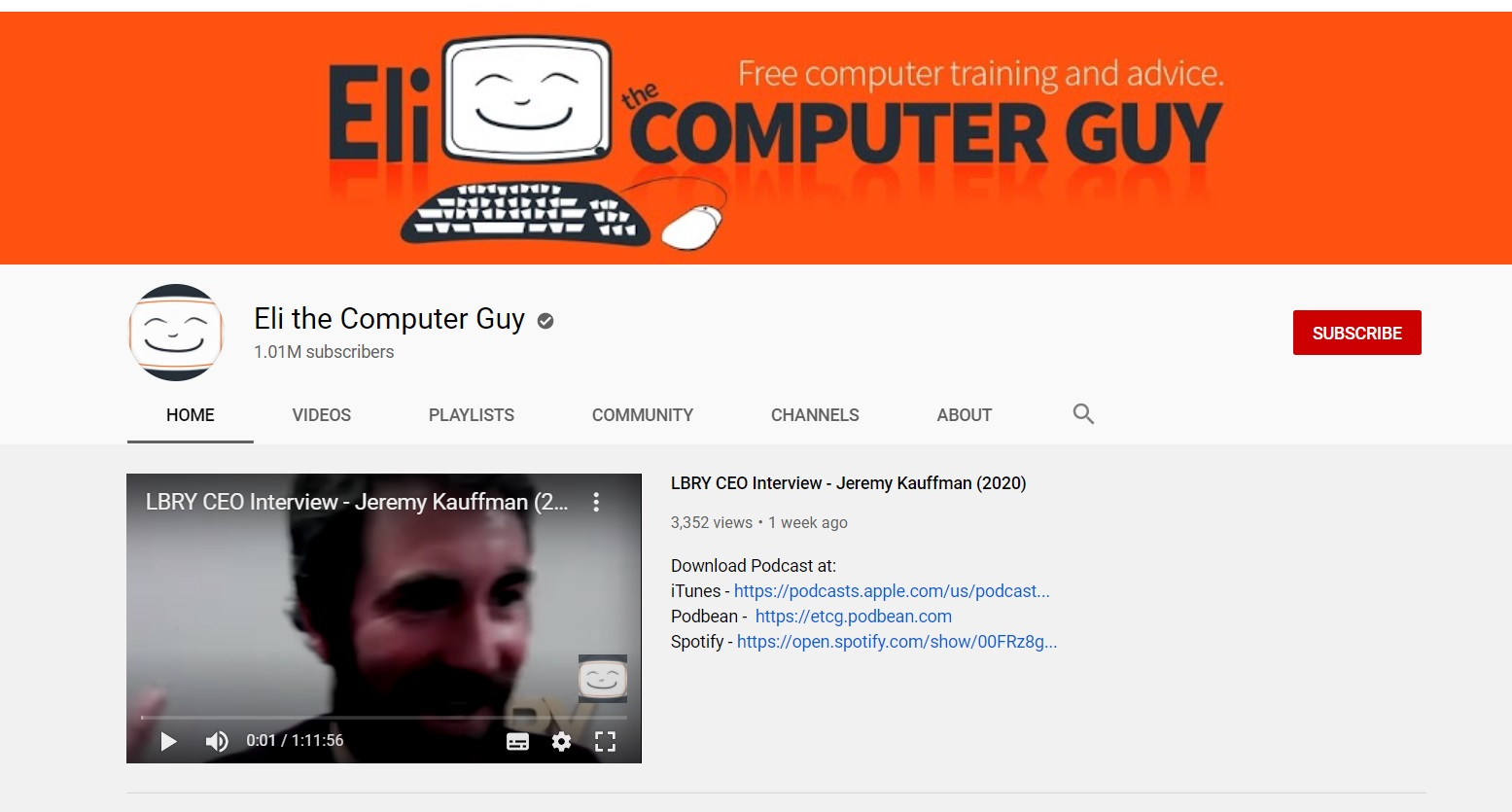 youtube coding channels eli the computer guy