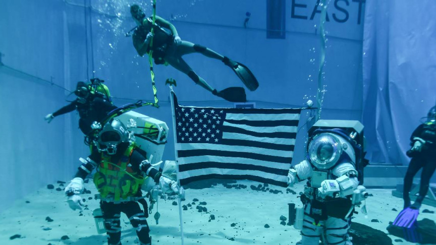 NASA Underwater Moonwalk Preparations Are a Sight to See