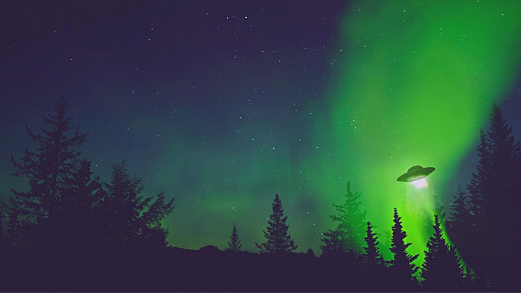 'Bright Green UFOs' Were Spotted in Canadian Airspace