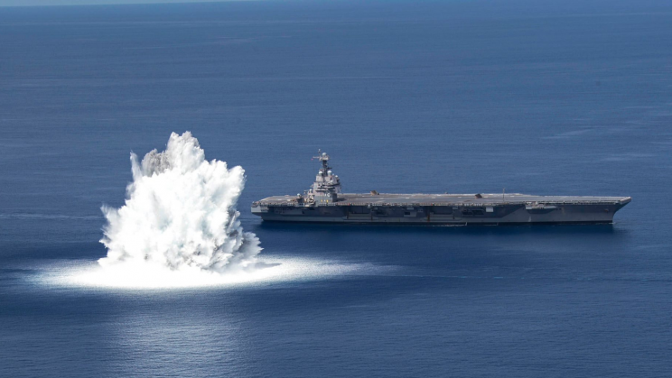 US Navy Tests Battle Readiness of USS Ford With Real Explosives