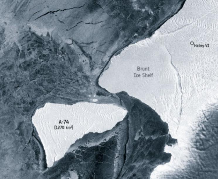 la sized iceberg near miss