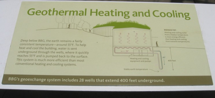Brooklyn's sign about geothermal energy