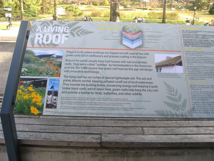 Queens explanation of its living roof