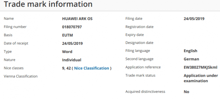 Huawei's New Operating System to Be Called Ark OS