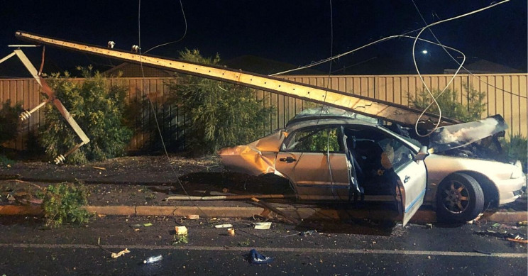 Driver Rips Car in Half, Caused Major Blackout in Horrific Crash, Walked Away