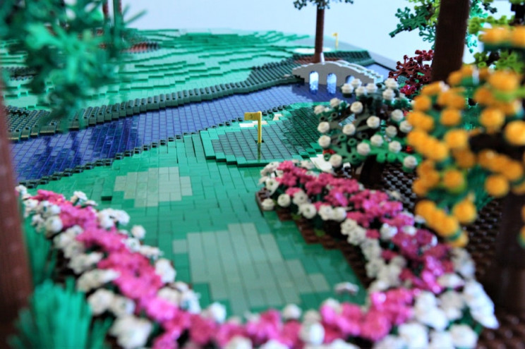 Father and Daughter Construct Augusta National's 12th Hole Using 20,000 LEGOs