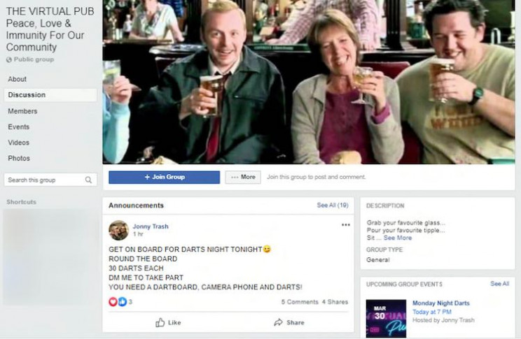 Virtual Pub Set up during Lockdown Attracts 14,500 Customers Globally