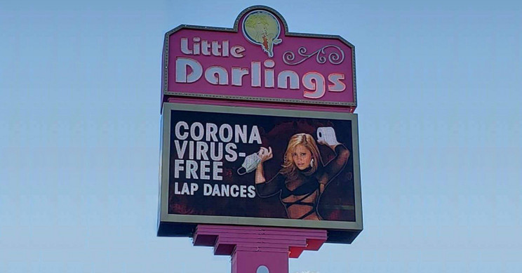 "Las Vegas Strip Club Offers ""Virus-Free Lap Dances"" During Pandemic Crisis"