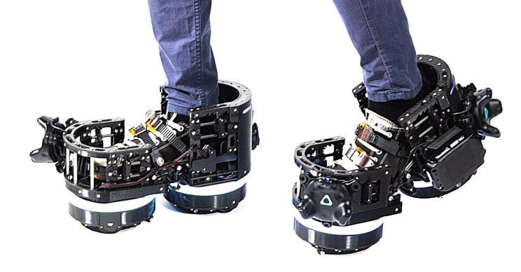 Company Unveils Robot Boots for VR Locomotion With Half-Life Demo