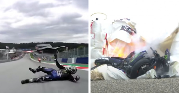 MotoGP Racer Jumps Off His Motorcycle at 125 MPH